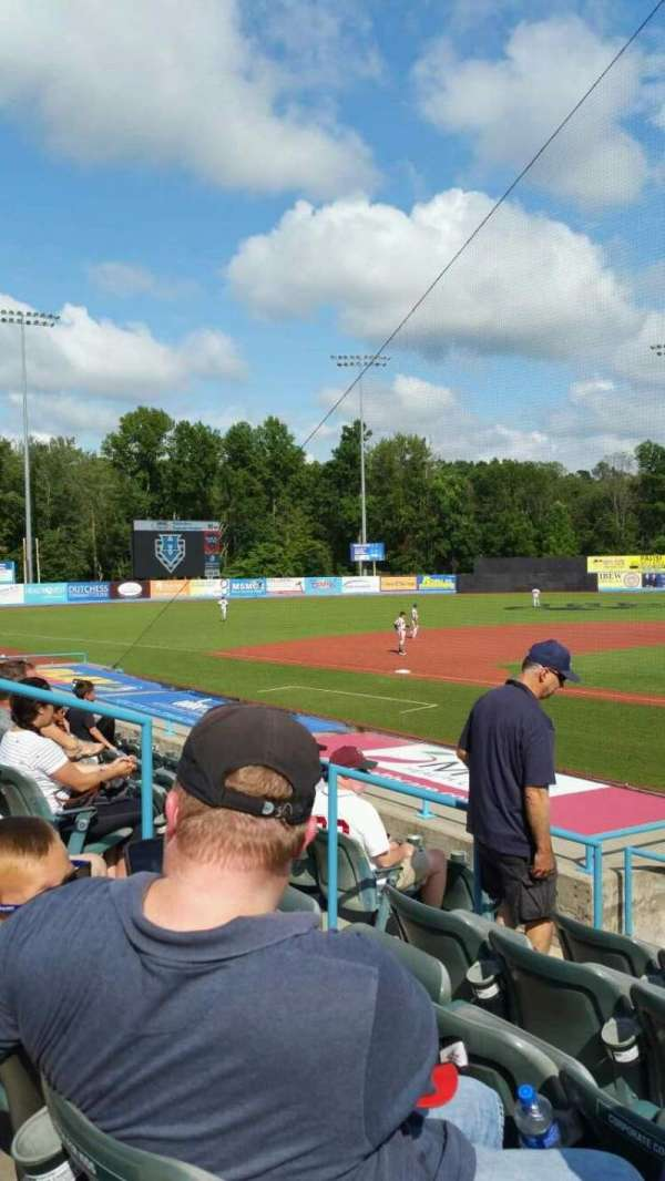 Dutchess Stadium, section: 108, row: J, seat: 6