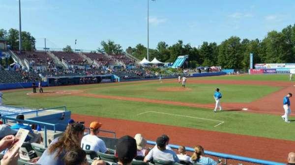 Dutchess Stadium, section: 101.5, row: H, seat: 8