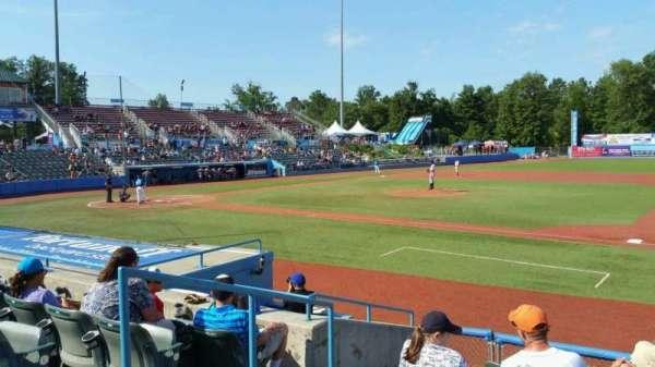 Dutchess Stadium, section: 101.5, row: H, seat: 3