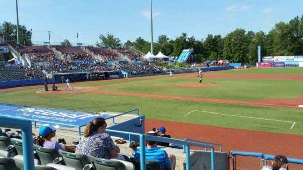 Dutchess Stadium, section: 101.5, row: H, seat: 1