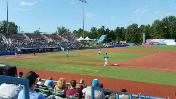 Dutchess Stadium, section: 101A, row: H, seat: 13