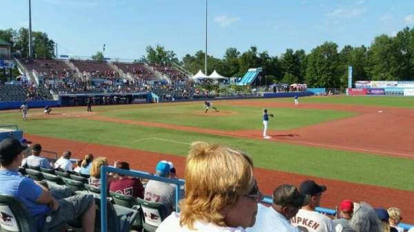 Dutchess Stadium, section: 101A, row: H, seat: 15