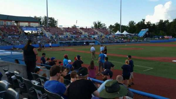 Dutchess Stadium, section: 101.5, row: E, seat: 10