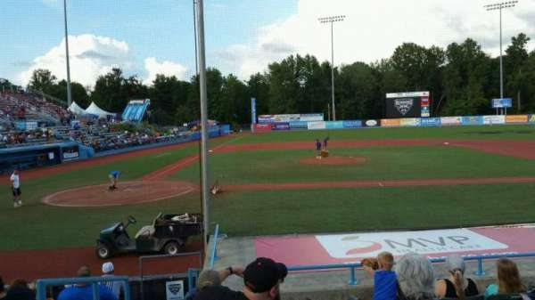 Dutchess Stadium, section: 103, row: J, seat: 1