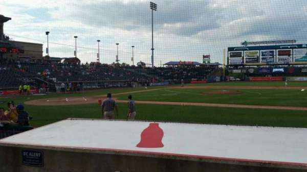 Coca-Cola Park, section: 107, row: G, seat: 3