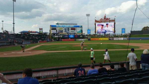 Coca-Cola Park, section: 108, row: G, seat: 3