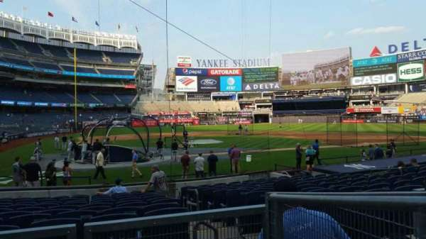 Yankee Stadium, section: 118, row: 3, seat: 1