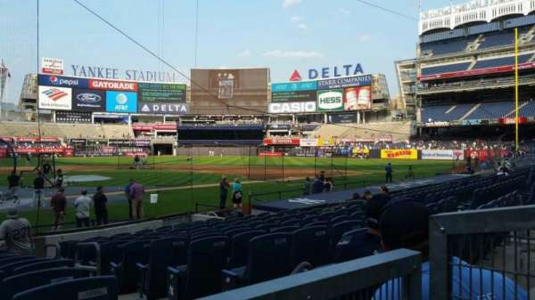 Yankee Stadium, section: 118, row: 1, seat: 1