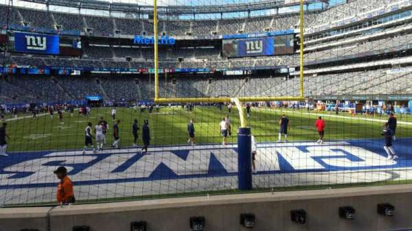 MetLife Stadium, section: 126, row: 4, seat: 18