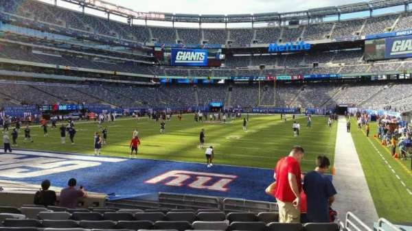 MetLife Stadium, section: 123, row: 10, seat: 15