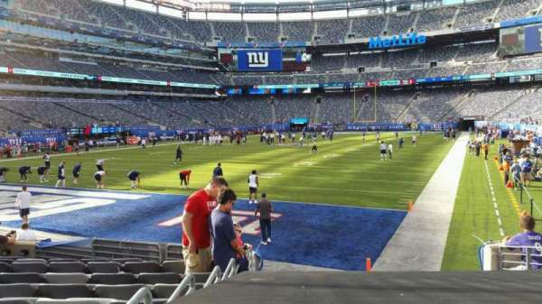 MetLife Stadium, section: 123, row: 10, seat: 10