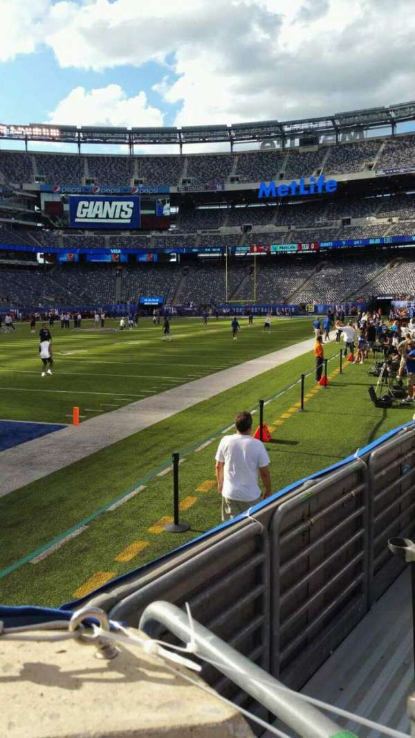 MetLife Stadium, section: 121, row: 3, seat: 1