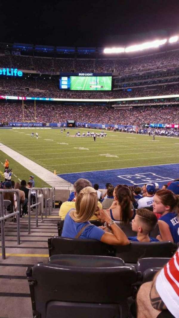 MetLife Stadium, section: 129, row: 15, seat: 25