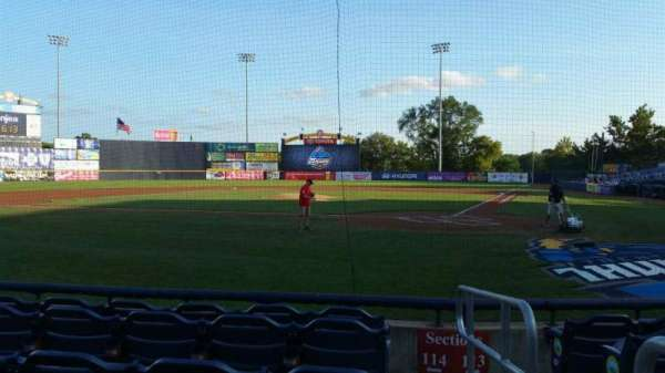 Arm & Hammer Park, section: 114, row: D, seat: 1