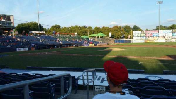 Arm & Hammer Park, section: 105, row: J, seat: 1