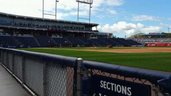 PNC Field, section: 13, row: 1, seat: 16