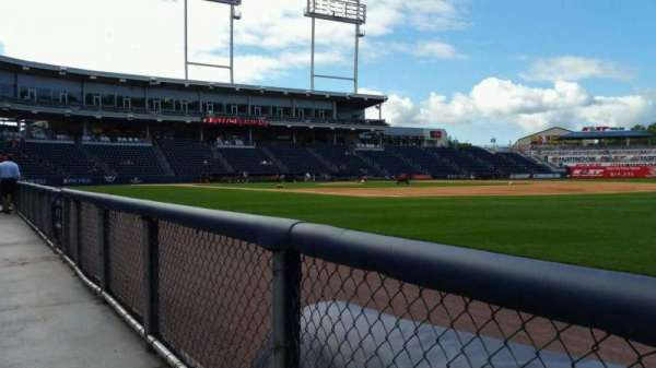PNC Field, section: 13, row: 1, seat: 1