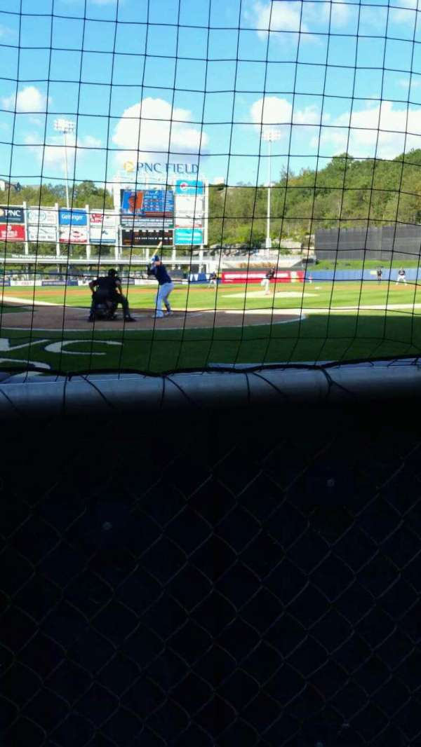 PNC Field, section: 20, row: 1, seat: 5