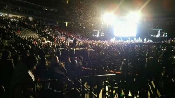 Prudential Center, section: 4, row: 2, seat: 3