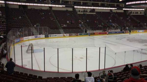 Giant Center, section: 104, row: M, seat: 5