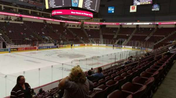 Giant Center, section: 105, row: L, seat: 17