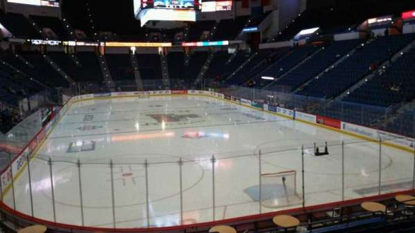 XL Center, section: 123, row: R, seat: 1