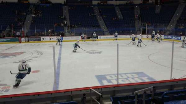 XL Center, section: 115, row: J, seat: 1