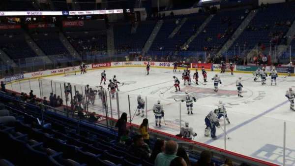 XL Center, section: 114, row: R, seat: 1