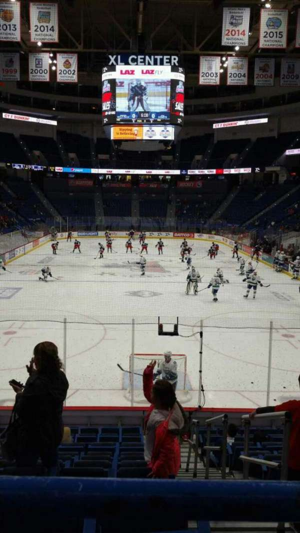 XL Center, section: 110, row: R, seat: 1