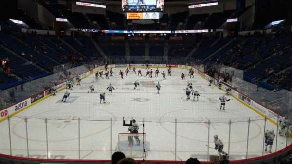 XL Center, section: 109, row: T, seat: 11