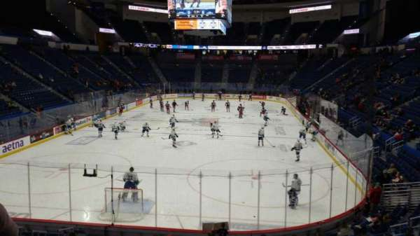 XL Center, section: 109, row: T, seat: 1