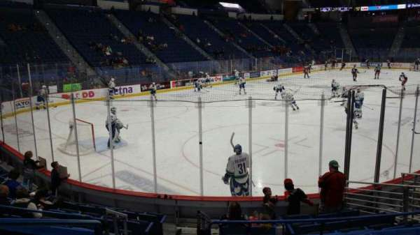 XL Center, section: 107, row: L, seat: 14