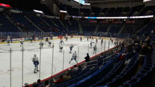 XL Center, section: 107, row: L, seat: 1