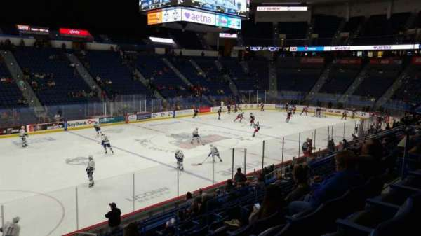 XL Center, section: 106, row: T, seat: 10