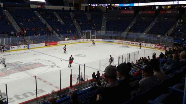 XL Center, section: 105, row: T, seat: 1