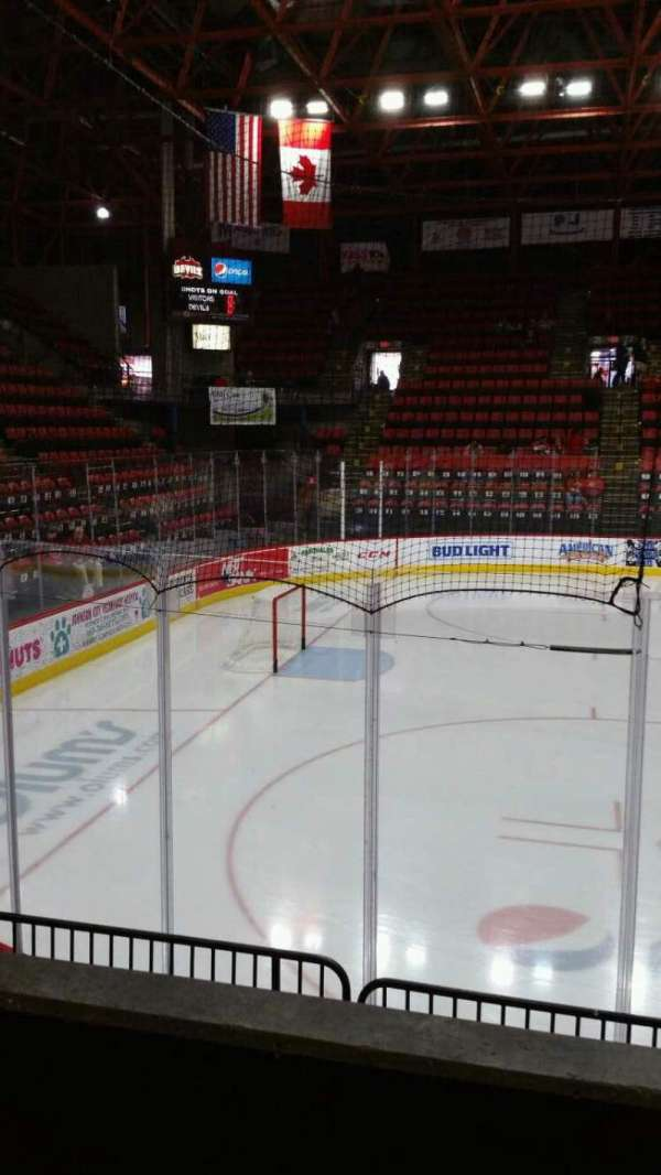 Floyd L. Maines Veterans Memorial Arena, section: 18, row: B, seat: 1
