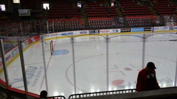 Floyd L. Maines Veterans Memorial Arena, section: 18, row: B, seat: 8