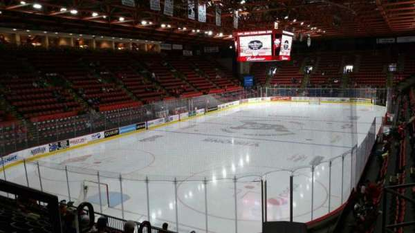 Floyd L. Maines Veterans Memorial Arena, section: 20, row: H, seat: 1
