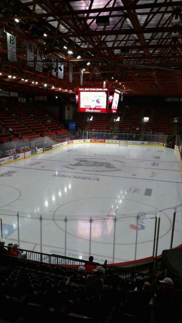 Floyd L. Maines Veterans Memorial Arena, section: 21, row: I, seat: 14