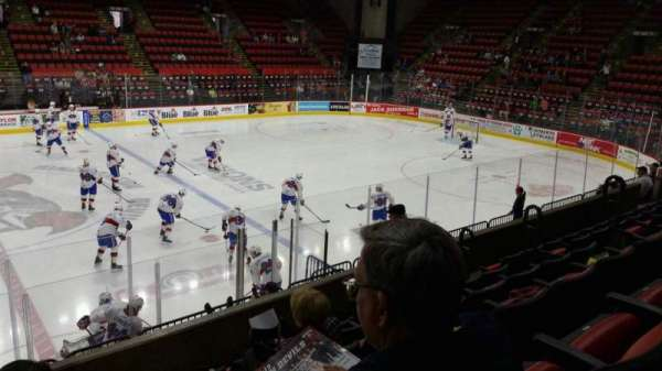 Floyd L. Maines Veterans Memorial Arena, section: 1, row: F, seat: 15