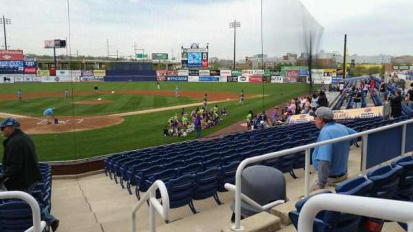 Frawley Stadium, section: G, row: 3, seat: 1