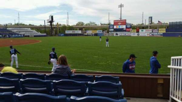 Frawley Stadium, section: 1, row: 5, seat: 1