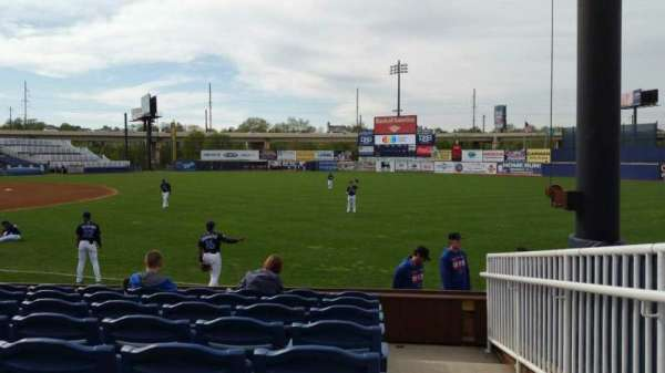 Frawley Stadium, section: 1, row: 8, seat: 1