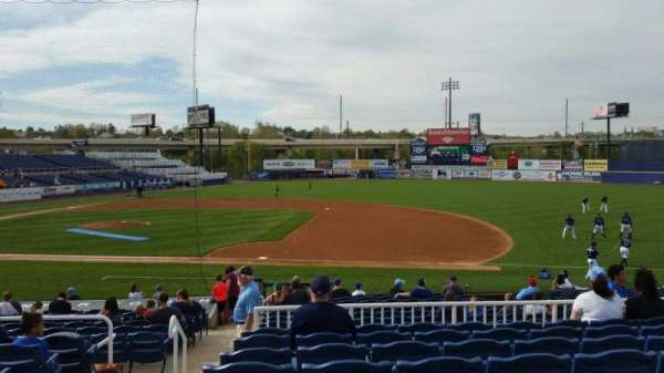 Frawley Stadium, section: A, row: 8, seat: 22