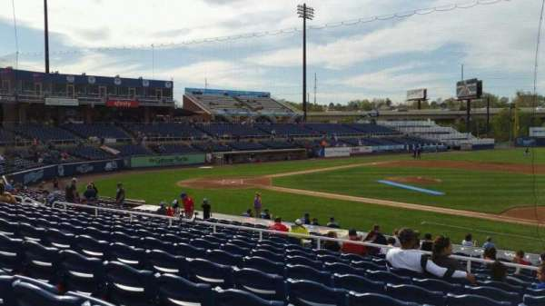 Frawley Stadium, section: B, row: 9, seat: 1