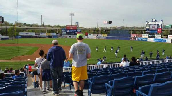 Frawley Stadium, section: B, row: 9, seat: 1