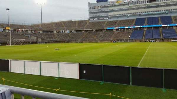 Rentschler Field, section: 121, row: 1, seat: 7