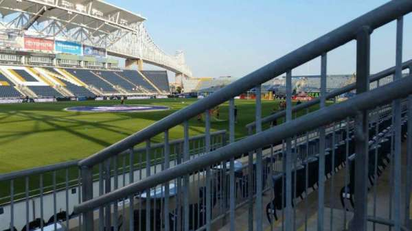 Talen Energy Stadium, section: 111, row: F, seat: 1