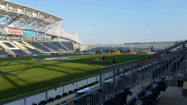 Talen Energy Stadium, section: 111, row: F, seat: 9