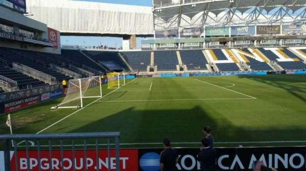Talen Energy Stadium, section: 111, row: F, seat: 18